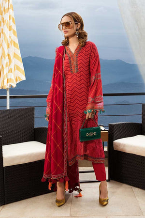 Maria B Linen Fall/Winter DL-701 - Embroidered Linen Salwar Kameez and embroidered shawl