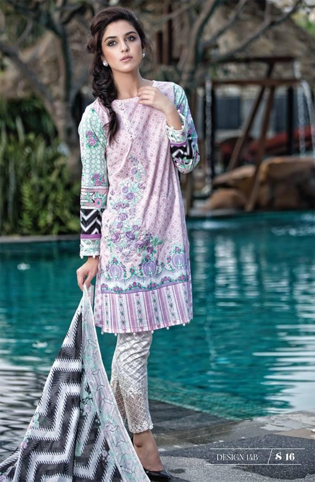Maria B Lawn Summer 2016 suit MB-14B