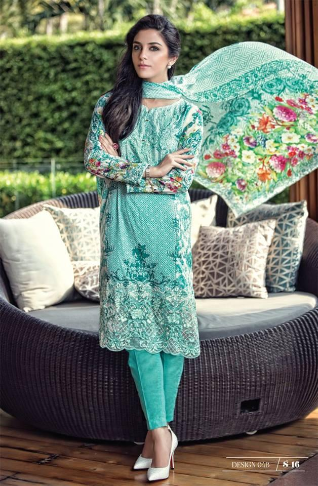 Maria B Lawn Summer 2016 suit MB-4B