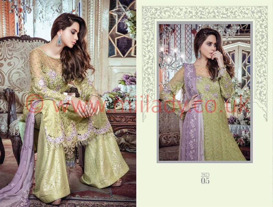 Maria B Embroidered Festive Vol3 2017 suit BD-05