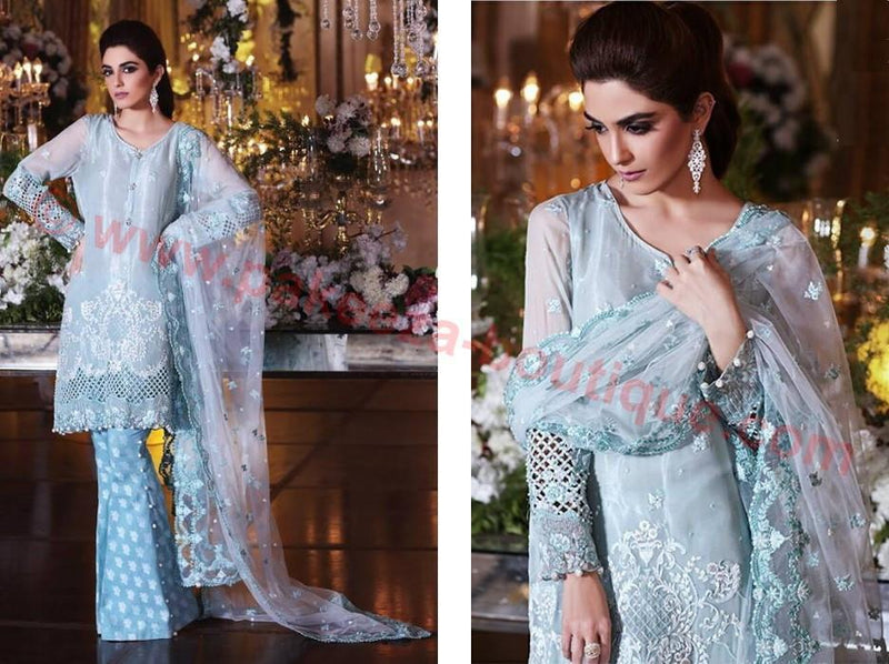 Maria B Embroidered Eid 2017 suit BD-1007