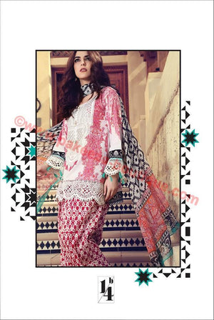 Maria B Lawn Spring/Summer 2017 suit MB-14B