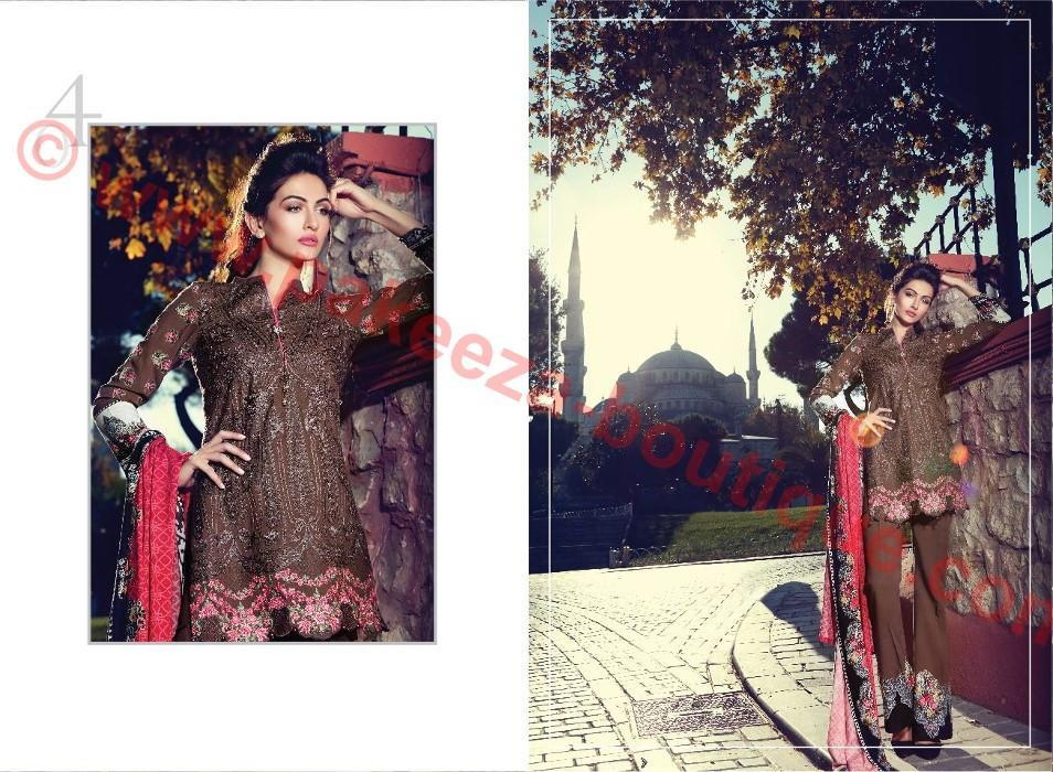 Maria B Embroidered Linen 2016 suit MB04