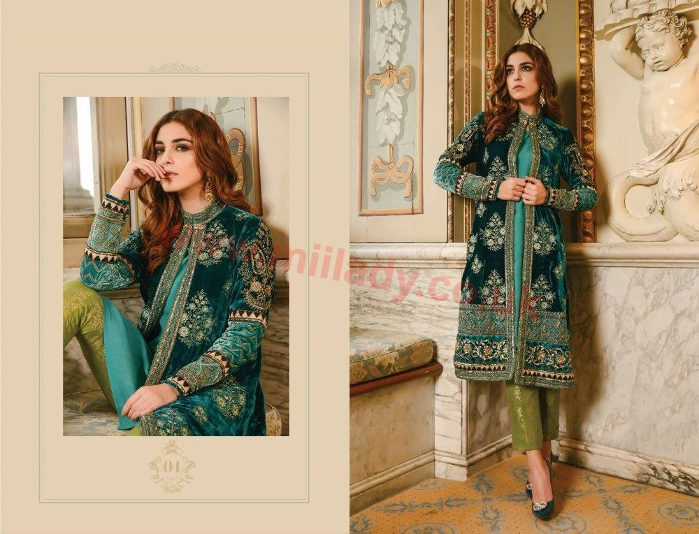 Maria B Embroidered Festive Vol3 2017 suit BD-04