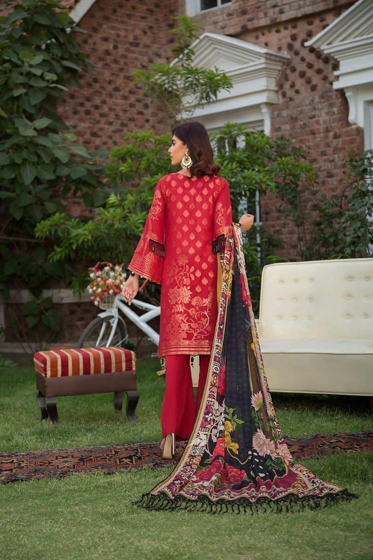 Maryam Rajput Festive 2019 suit IMPERIAL - Embroidered Jacquard Lawn Shirt, cambric trouser and chiffon dupatta