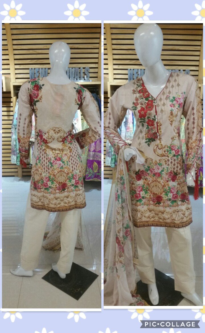 Miilady Lawn Stitched suit MC-CX545