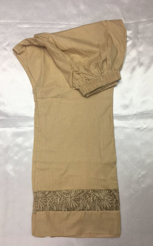 Miilady Ready-To-Wear Shalwar MS-008 - Beige embroidered salwar