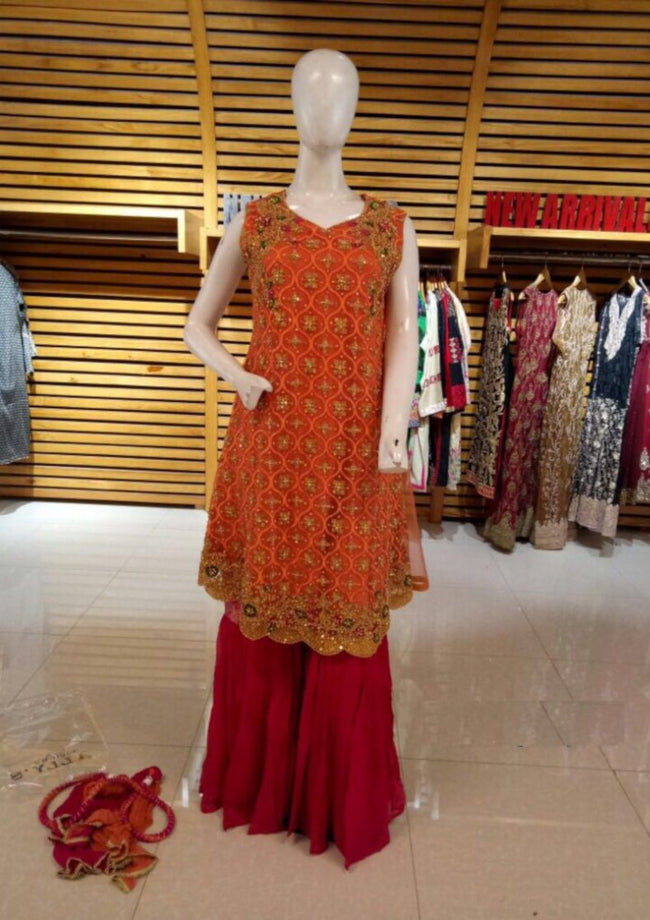 Miilady Fancy Stitched suit MF-2169 - Hand worked Net kameez/party wear