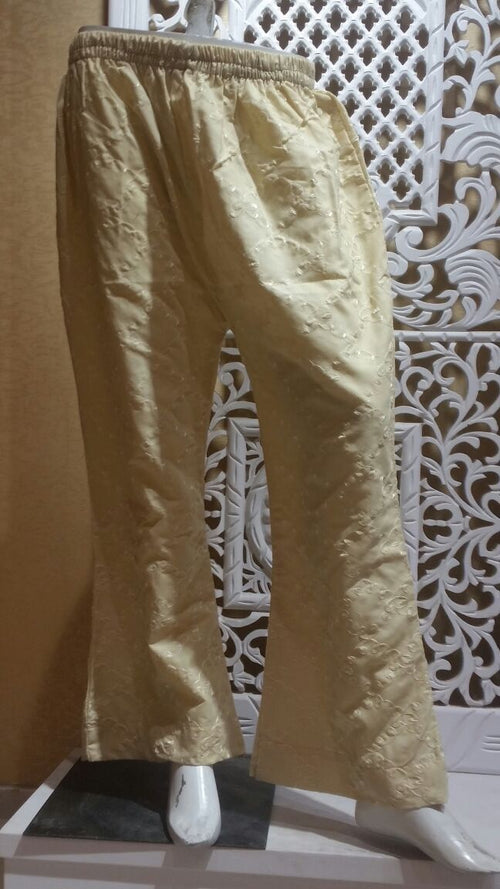 Miilady Cotton Stitched/ready to wear beige Salwar