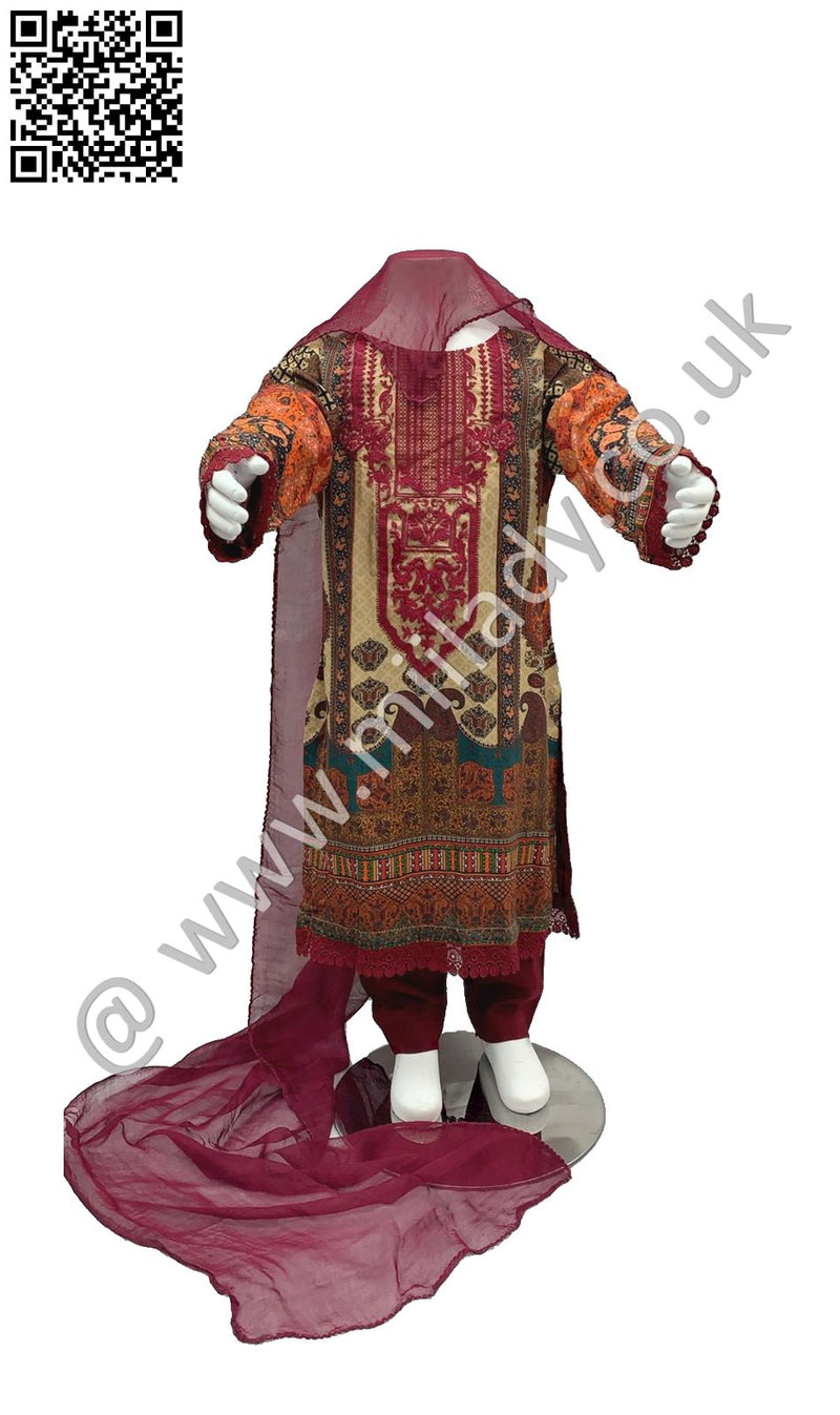 Miilady Casual Viscose Eid 2020 Kids suit MCK-1108