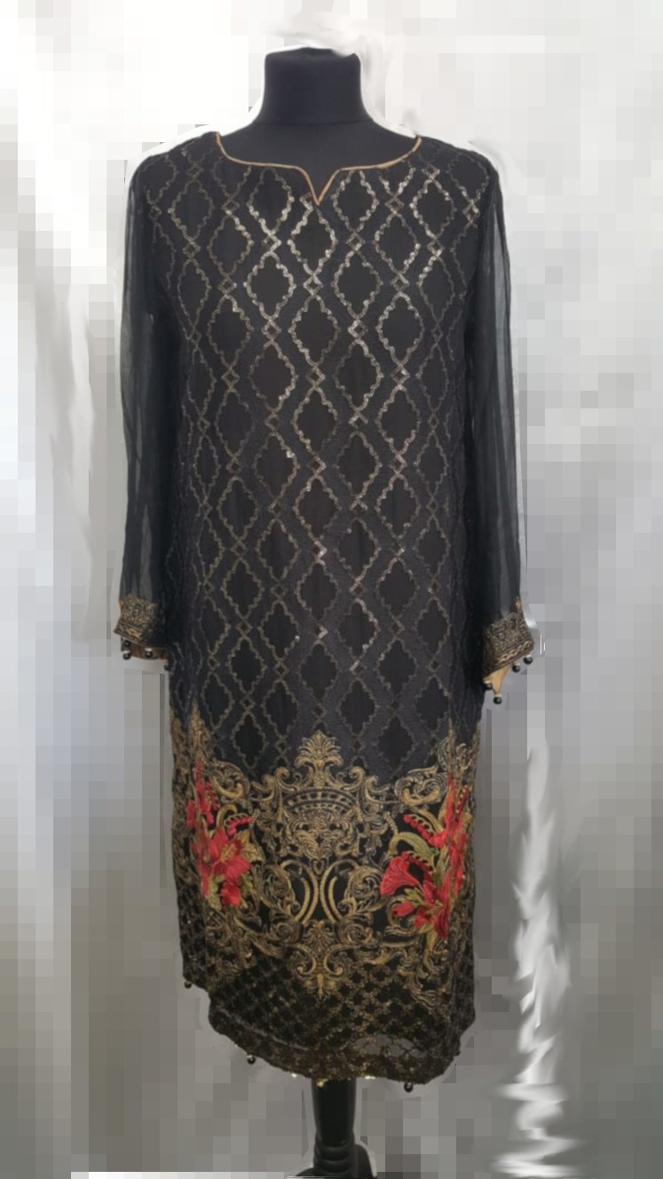 Miilady Stitched Embroidered Chiffon Kurti D-07A