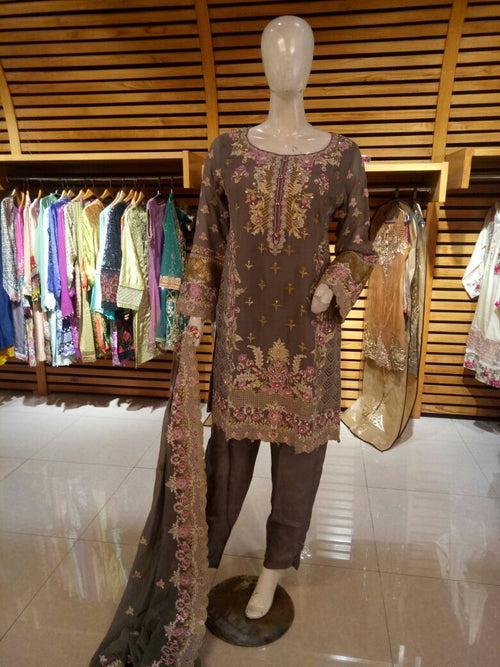 Miilady Fancy Stitched suit MF-2387