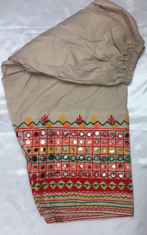 Miilady Ready To Wear Shalwar MS-002 - Beige colour embroidered shalwar