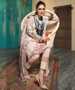 Mohagni Arena Lawn 2019 suit AR-05 - Digital Pink Kameez with Patches and chiffon dupatta
