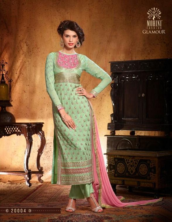 Mohini Glamour Georgette Mint Green suit 20004