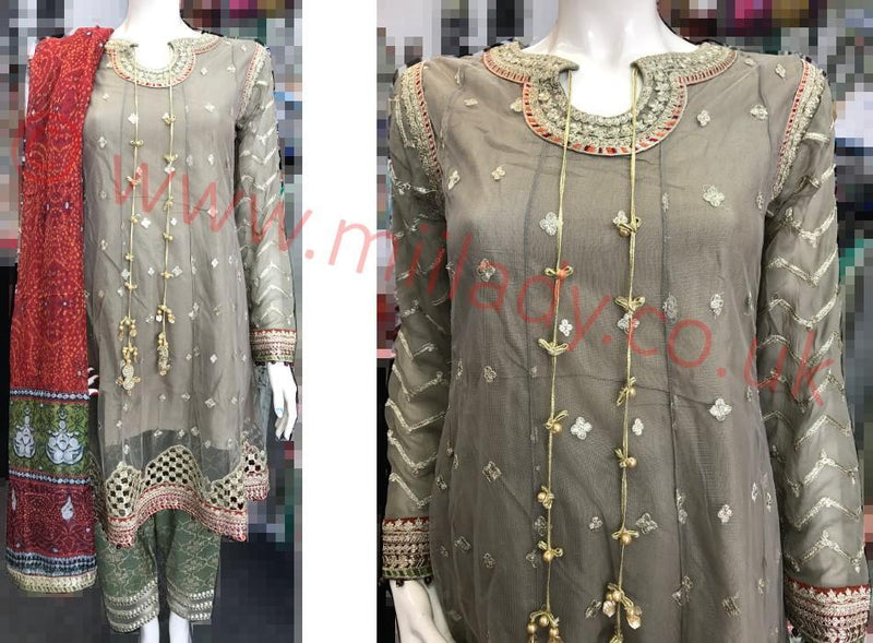 Miilady Fancy Stitched suit MF-0829