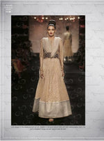 NAKKASHI Fall of Charm suit 11016 - Embroidered Net Beige Formal long dress