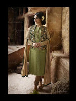 Nakkashi Immortal Georgette Mint Green suit 3027