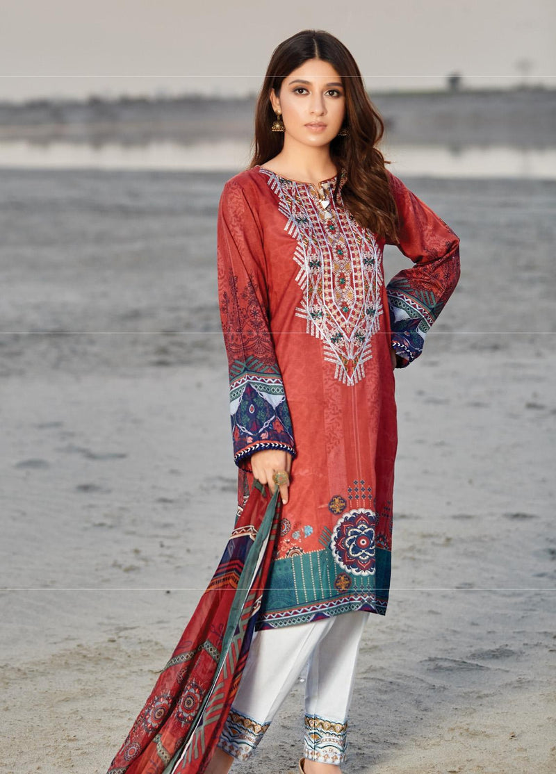 Naqsh by Florent Lawn Collection 2020 suit NQSH-3A
