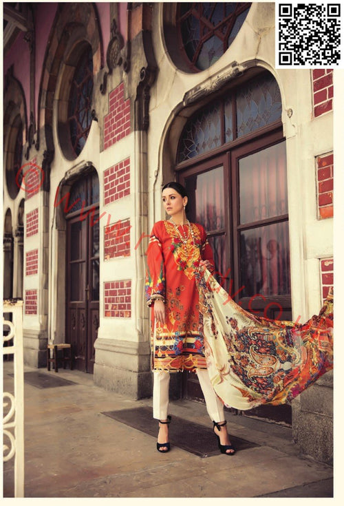 RajBari Luxury Lawn 2018 suit 10A