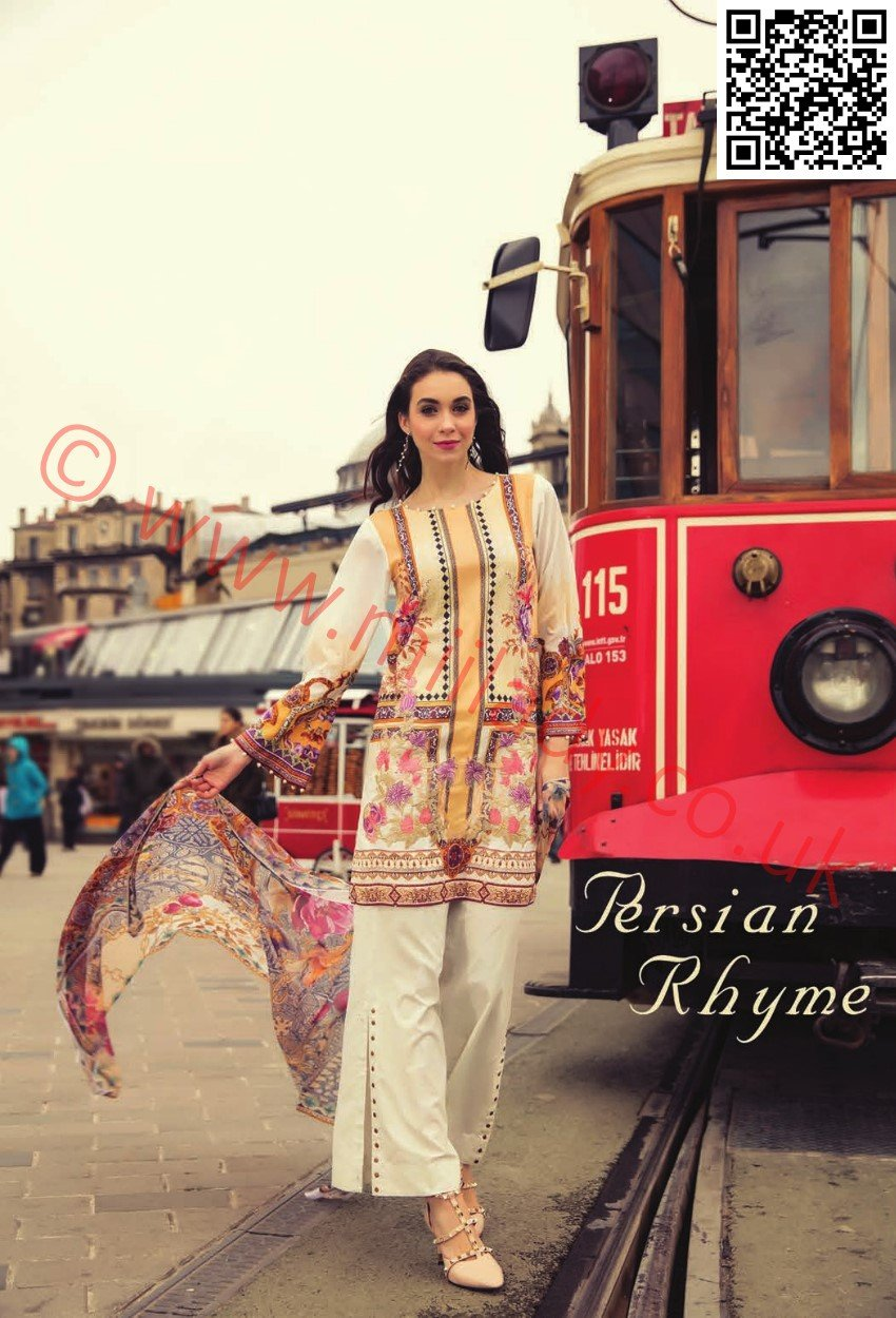 RajBari Luxury Lawn 2018 suit 9B