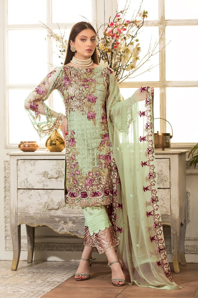 Ramsha Rangoon Vol-4 2019 suit D-411