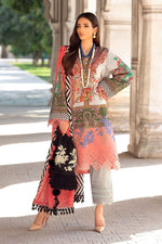 Sana Safinaz Mahay Winter 2020 Grey Coral Slub Cotton suit H202-002A-Q