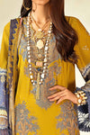 Sana Safinaz Muzlin 2020 suit M203-002B-CI - Embroidered yellow grey cotton satin shirt with chiffon dupatta