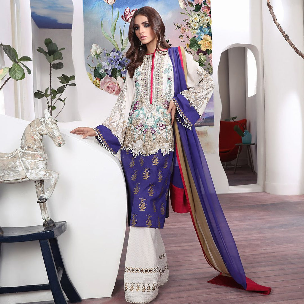 Sana Safinaz Muzlin Luxury 2019 suit - 02B