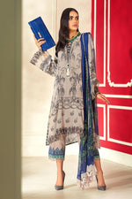 Sana Safinaz Winter Muzlin 2020 Grey suit M203-005A-CO