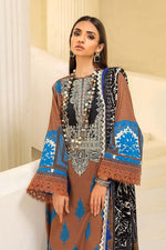 Sana Safinaz Muzlin 2020 Caramel colour suit M203-010B-CO