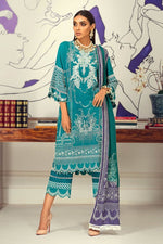 Sana Safinaz Winter Muzlin 2020 Sage Green Slub Cotton suit M203-016B-CO
