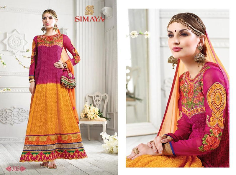 Simaya Vol.C Georgette Orange suit 305