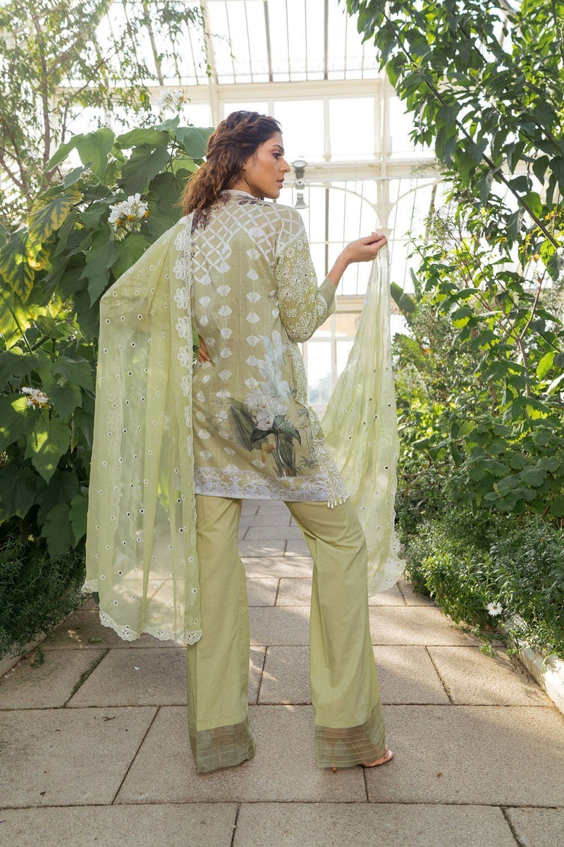 Sobia Nazir Luxury Lawn suit D-6B - Embroidered Salwar Kameez with embroidered chiffon dupatta