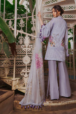 Sobia Nazir Luxury Lawn suit D-8A - Embroidered Salwar Kameez with embroidered net dupatta