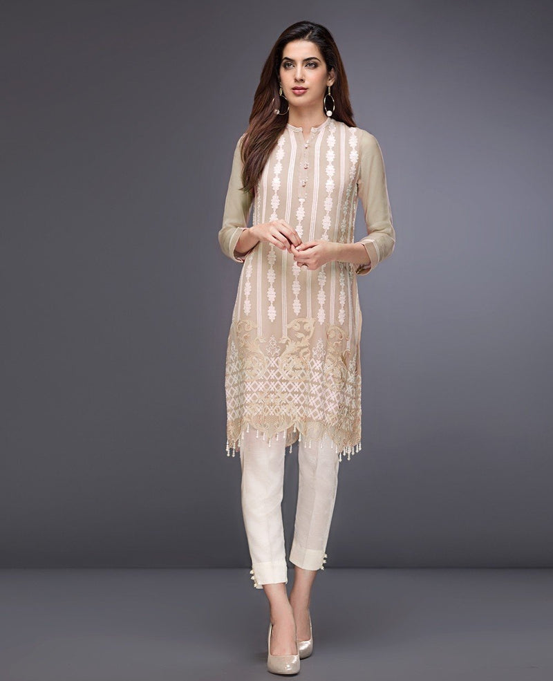 Xenia Formals Pure Chiffon Designer Outfit Creppe Pink B