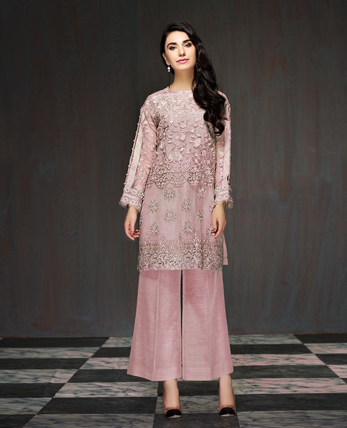 Xenia Formals Organza Outfit 2018 Fayre - Embroidered Kameez with embellishments