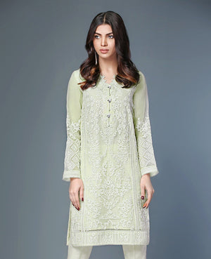 Xenia Formals Spot On B - Pure Chiffon Party Outfit with embroidered Chiffon dupatta