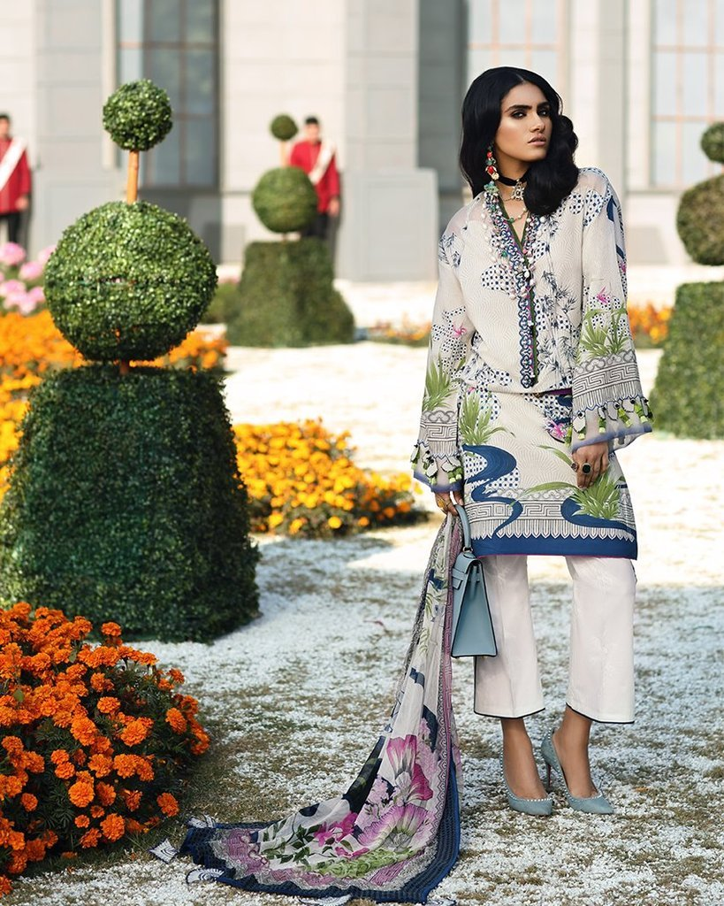 Zaha Spring Lawn Vol-1 2019 by Elan suit ZL-04A