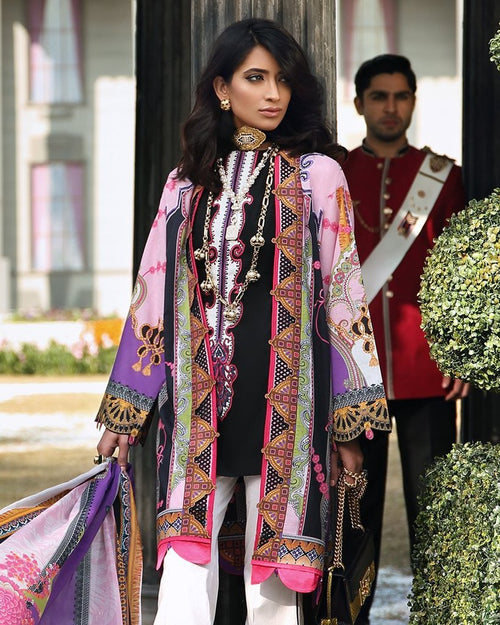 Zaha Spring Lawn Vol-1 2019 by Elan suit ZL-07A