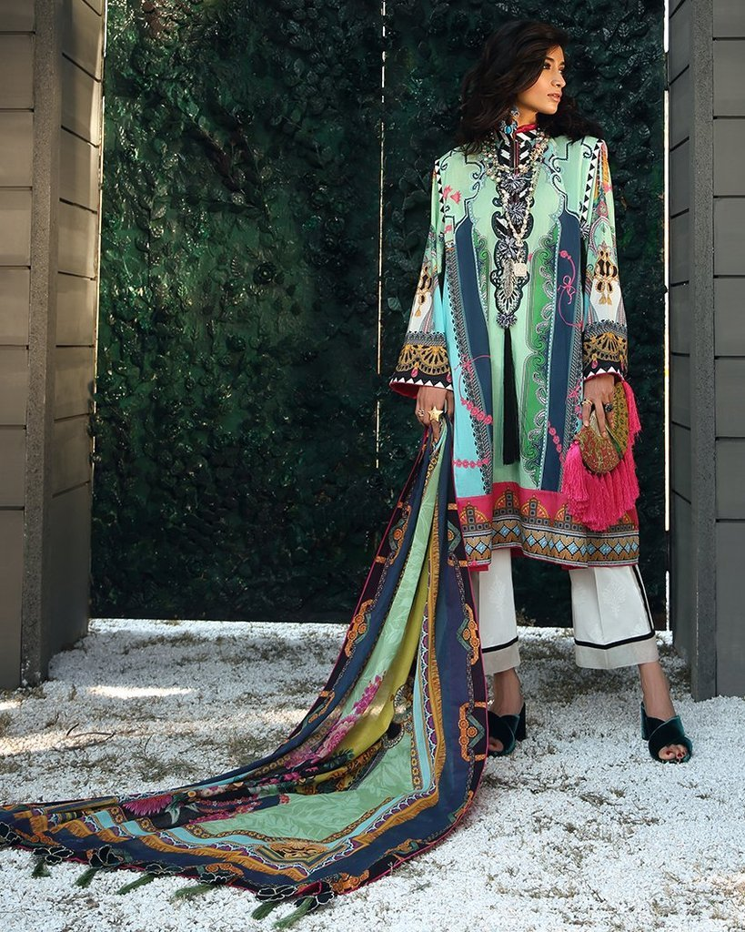 Zaha Spring Lawn Vol-1 2019 by Elan suit ZL-07B