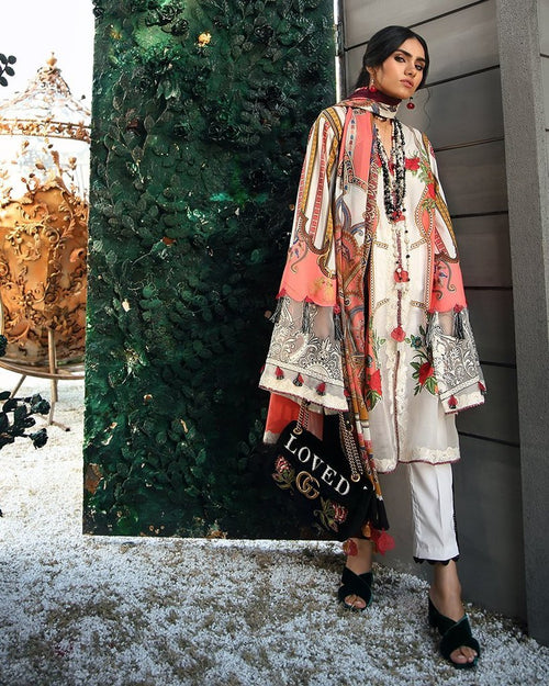Zaha Spring Lawn Vol-1 2019 by Elan suit ZL-09B