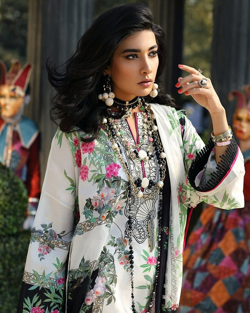 Zaha Summer/Spring Lawn Vol-1 2019 suit ZL-13A