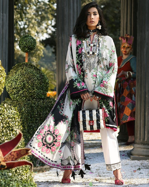 Zaha Spring Lawn Vol-1 2019 by Elan suit ZL-13A