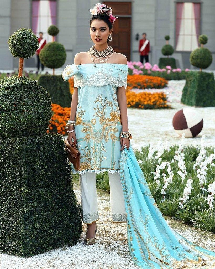 Zaha Spring/Summer Lawn Vol-1 2019 by Elan suit ZL-16A