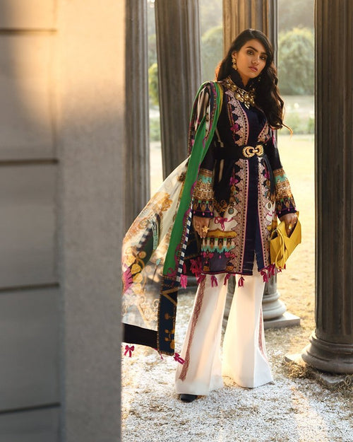 Zaha Summer Lawn Vol-1 by Elan suit ZL-17A