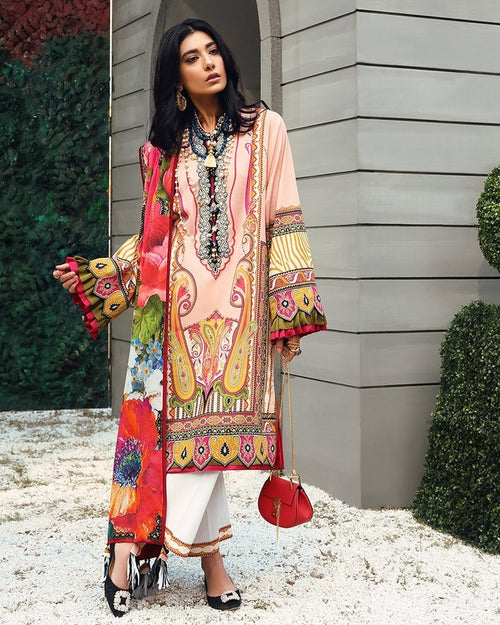 Zaha Spring Lawn Vol-1 2019 by Elan suit ZL-18B