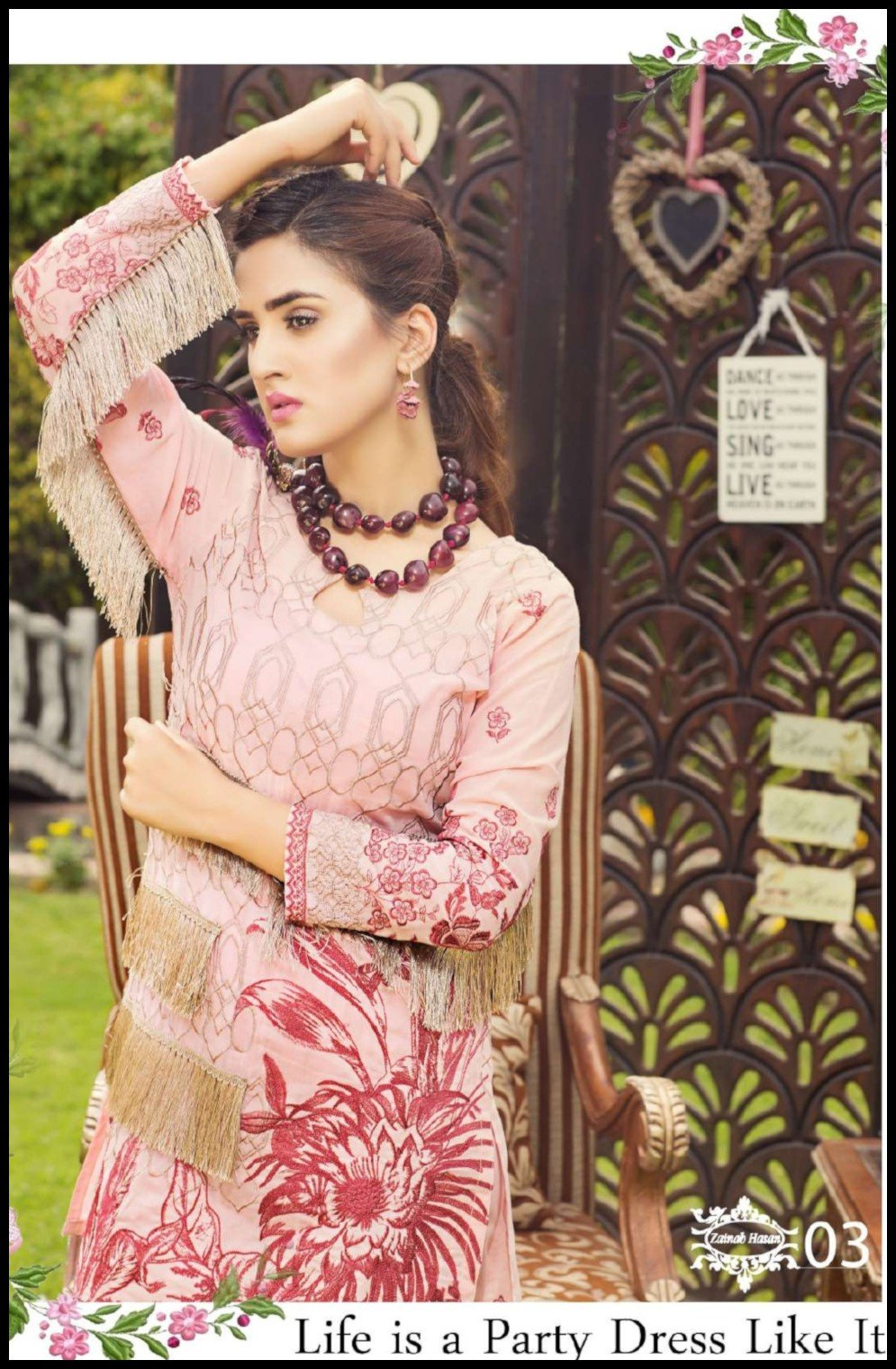 Zainab Hasan Swiss Lawn Vol3 2019 suit ZH-03
