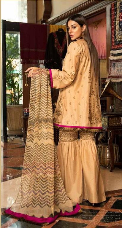 Abiha by Eshaisha Winter Linen suit D-512