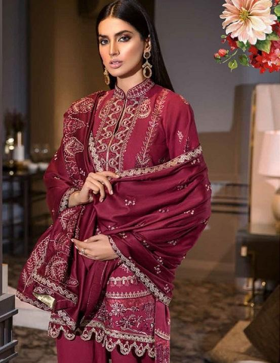 Eshaisha Luxury Embroidered Vol-2 Winter 2019 suit EA-511